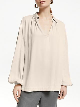 John Lewis & Partners Gather Neck Blouse