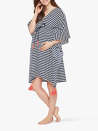 f022b8efeb Mamalicious Stripe Beach Maternity Cover Up