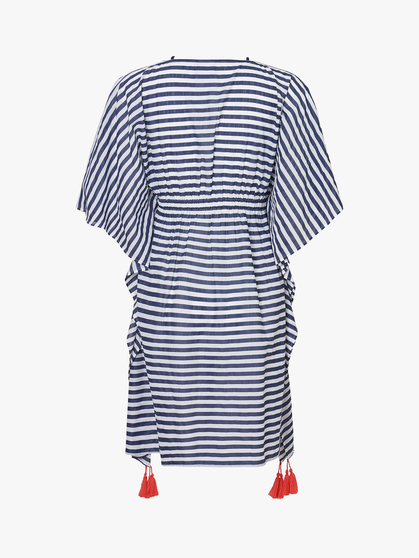 a674afeda979e Buy Mamalicious Stripe Beach Maternity Cover Up, Snow White, XL Online at  johnlewis.