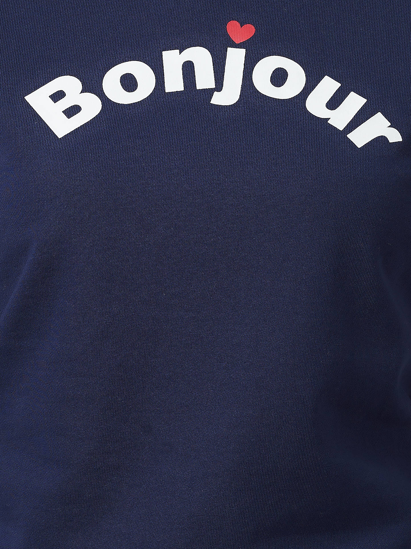 Buy Sugarhill Brighton Laurie Bonjour Sweatshirt, Navy, 8 Online at johnlewis.com