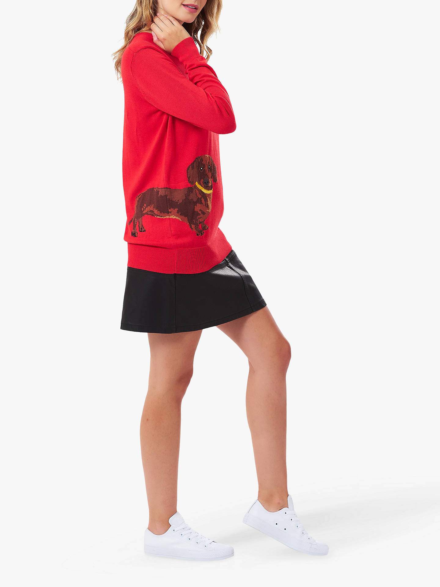 BuySugarhill Brighton Rita Sausage Dog Knitted Jumper, Red, 8 Online at johnlewis.com