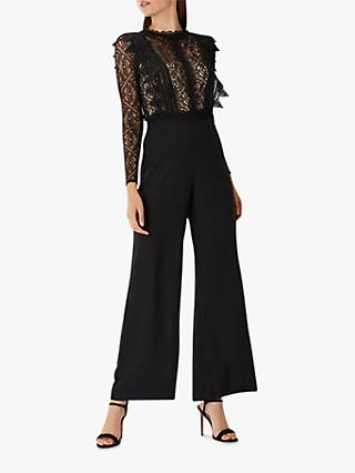 Coast Evie Lace Bodice Jumpsuit, Black