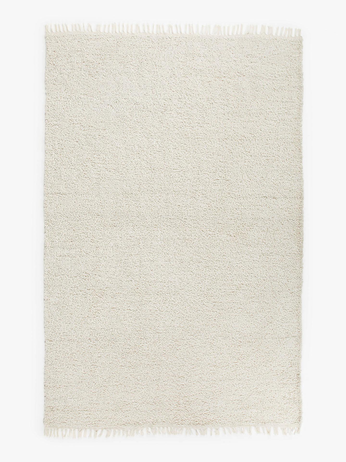 John lewis partners fyn recycled plastic indoor outdoor rug l120 x w170 cm cream