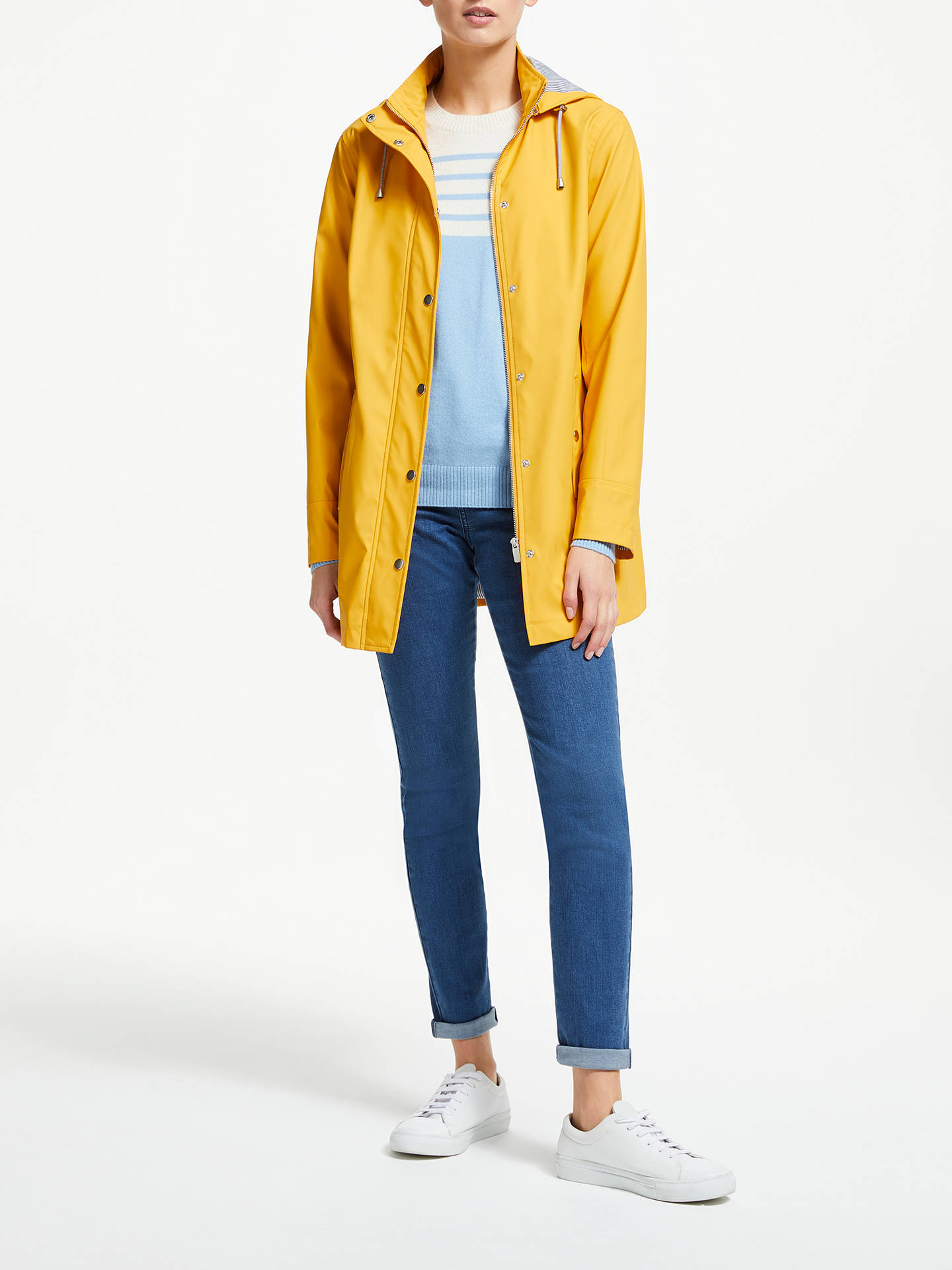 Buy Collection WEEKEND by John Lewis Hooded Raincoat, Yellow, 8 Online at johnlewis.com