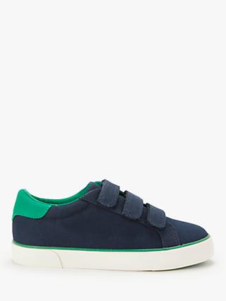 John Lewis & Partners Children's Ollie Riptape Trainers, Navy