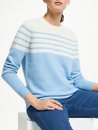 Collection WEEKEND by John Lewis Cashmere Stripe Jumper