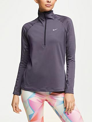 Nike Pro Warm 1/2 Zip Pearl Shift Training Top, Gridiron