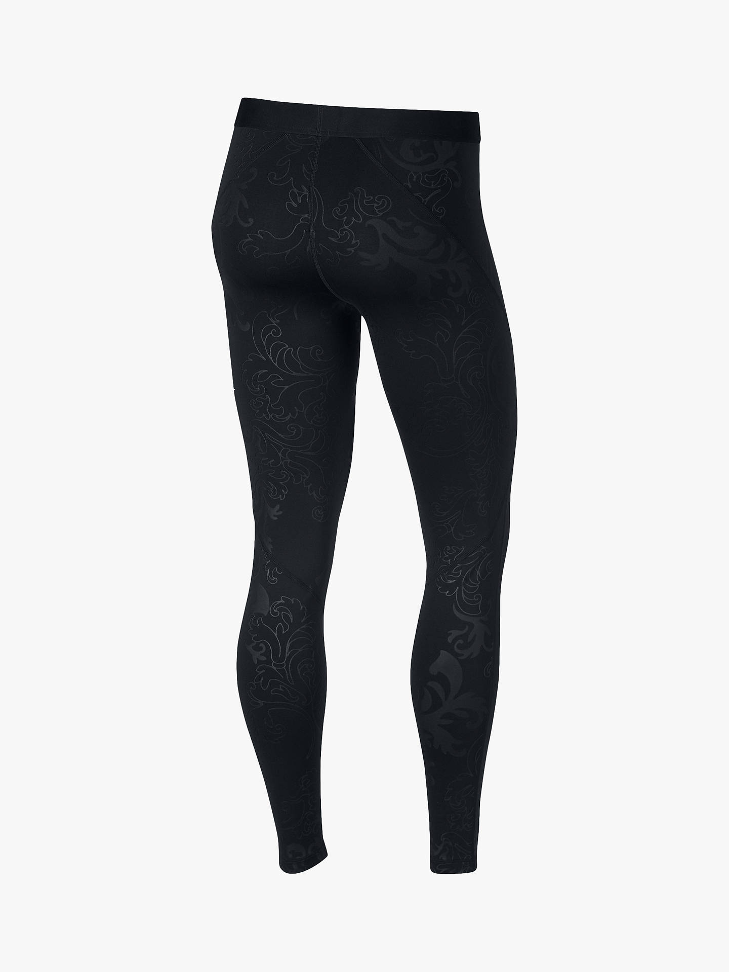 official photos 1c48f d72a8 ... Buy Nike Pro Warm Royal Print Training Tights, Black Dark Grey, L Online