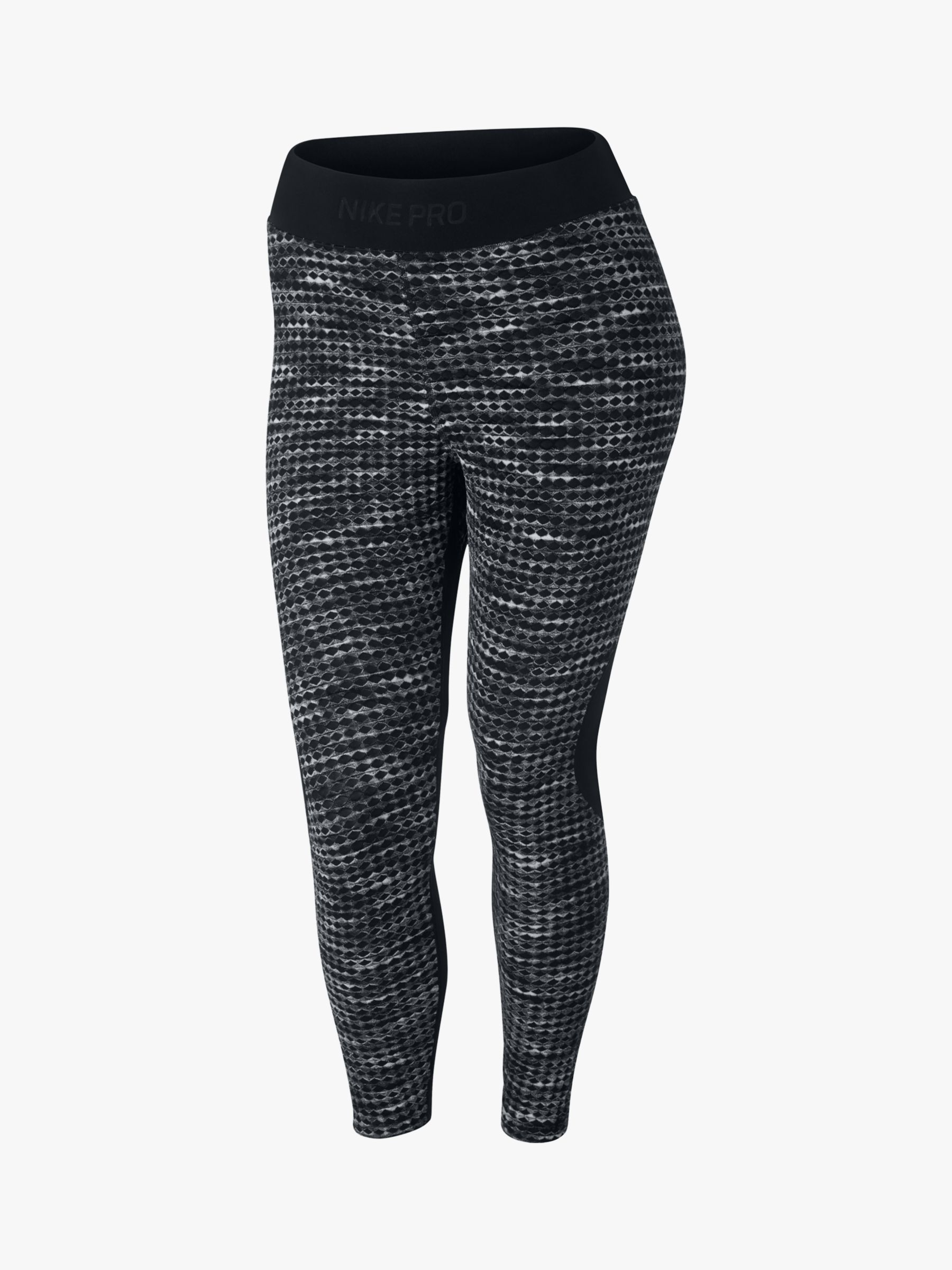 Ultramoderne Nike Pro HyperWarm Printed Crop Tights, Black at John Lewis & Partners WU-76