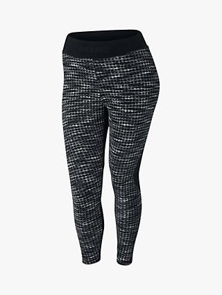 Nike Pro HyperWarm Printed Crop Tights, Black