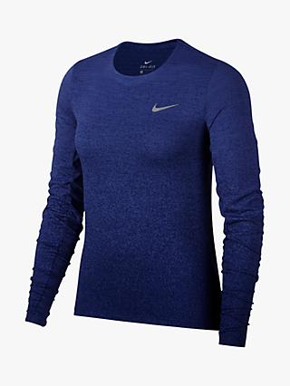 6a632912 Nike Medalist Long Sleeve Running Top, Rush Violet
