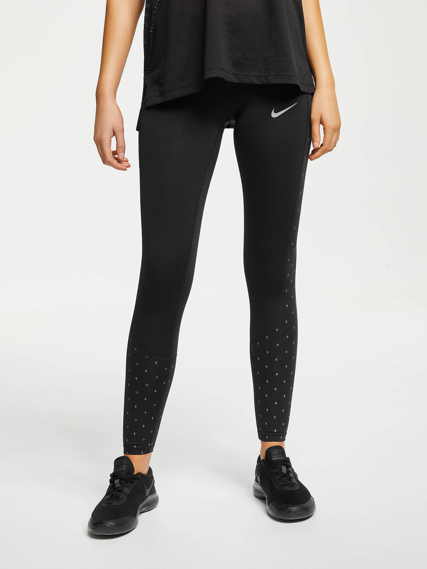 55dd8babe460d Buy Nike Racer Women's Running Tights, Black, XS Online at johnlewis. ...