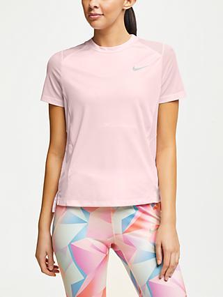 Nike Miler Short Sleeve Running Top, Arctic Pink. Quick view