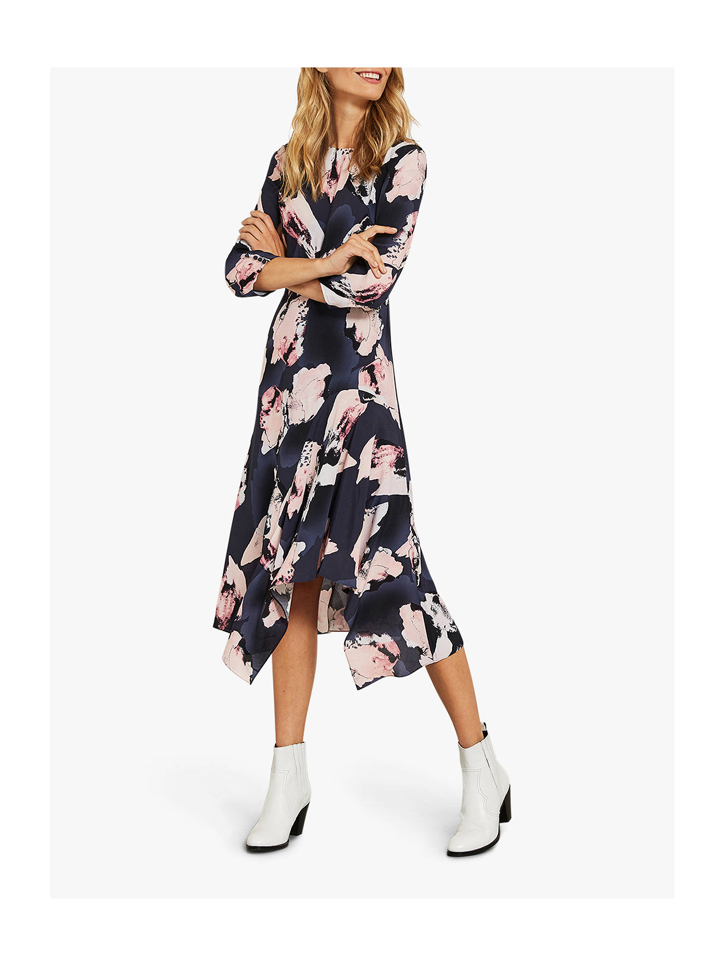 eb3906fa64c3c Buy Mint Velvet Celeste Print Midi Dress, Multi, 6 Online at johnlewis.com  ...