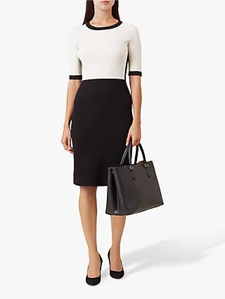 Hobbs Eden Pencil Dress, Ivory Black