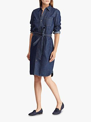 Ralph Lauren Jameika Denim Shirt Dress, Pure Rinse Wash