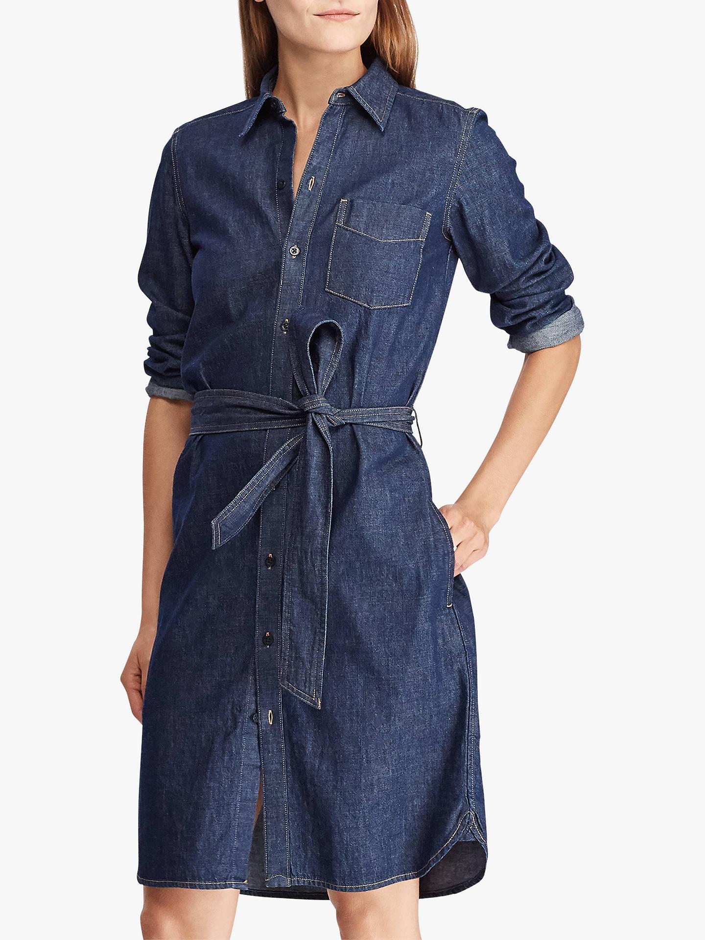 various design outlet for sale hot new products Ralph Lauren Jameika Denim Shirt Dress, Pure Rinse Wash at John ...