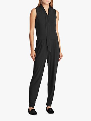 Ralph Lauren Simran Tie Neck Jumpsuit, Polo Black