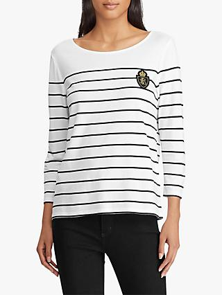 Ralph Lauren Seferya Crest Stripe Top b45a076cec39