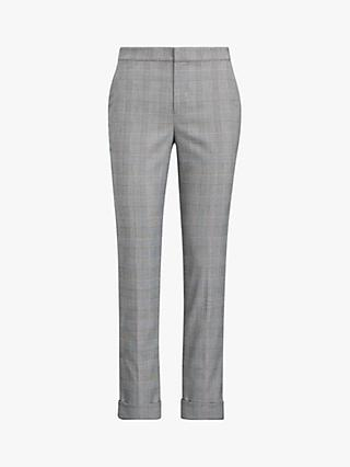 94c5b2e0b8676 Polo Ralph Lauren Artine Glen Plaid Slim Trousers, Black Cream