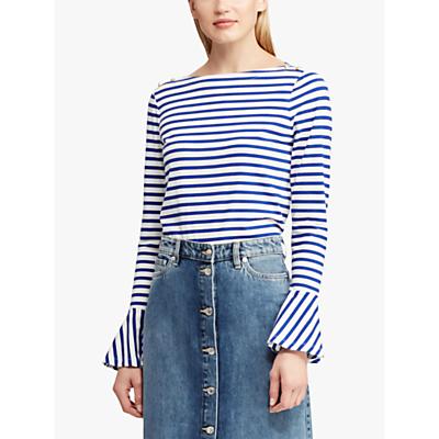 Ralph Lauren Adelaide Stripe Cotton Top, Blue