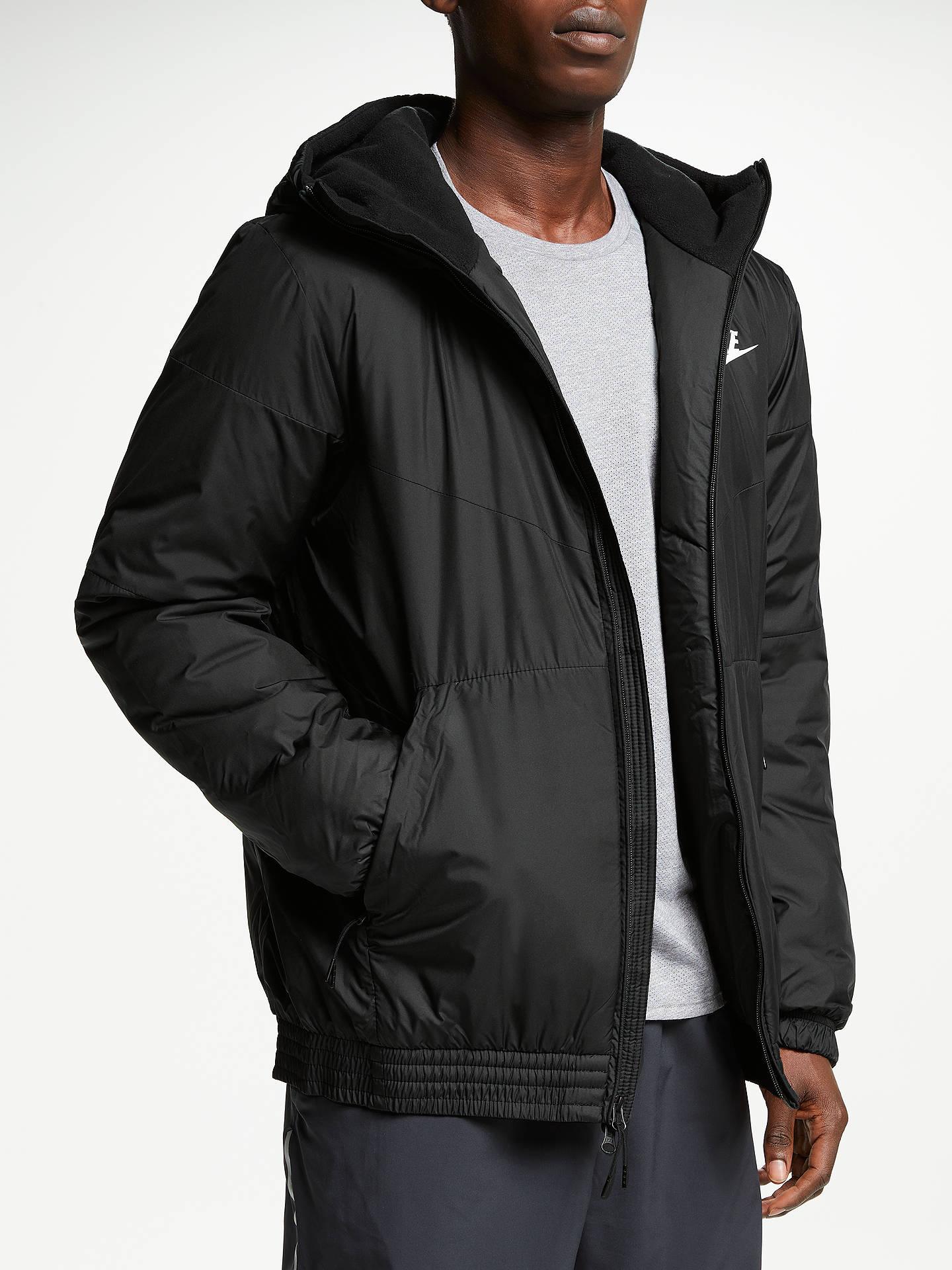 champán colisión Maldito  Nike Synthetic Fill Jacket, Black at John Lewis & Partners