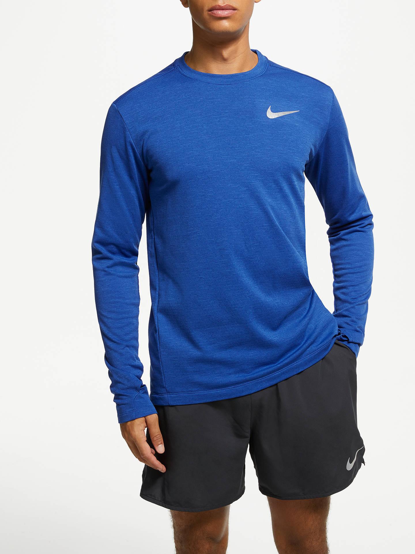 b4033788 Buy Nike Therma Sphere Element 2.0 Long Sleeve Running Top, Blue Void, S  Online ...