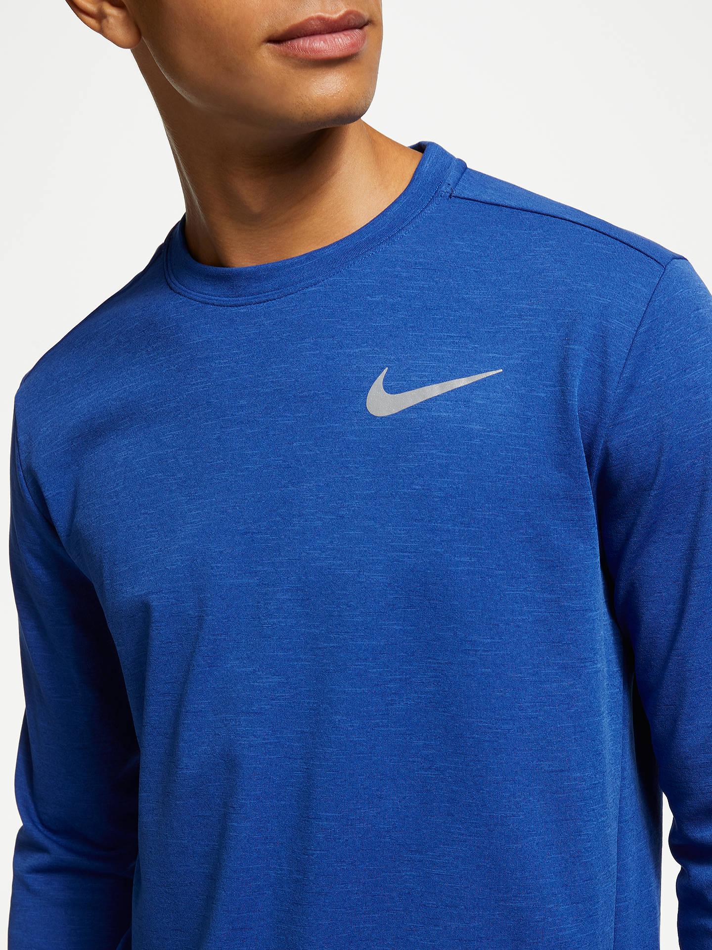 58decd74 ... Buy Nike Therma Sphere Element 2.0 Long Sleeve Running Top, Blue Void,  S Online ...