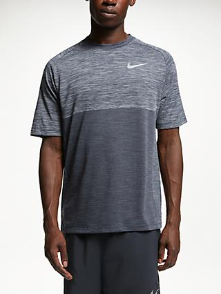 Nike Dry-FIT Medallist Running Top, Atmosphere Grey/Obsidian