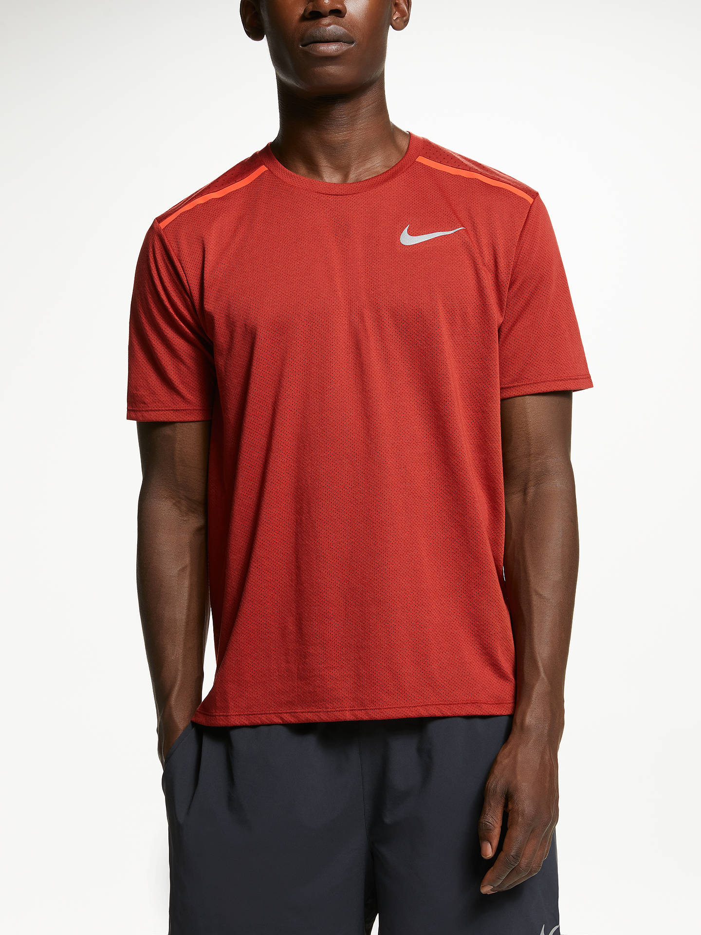 save up to 80% look for the latest Nike Breathe Rise 365 Short Sleeve Running Top at John Lewis ...