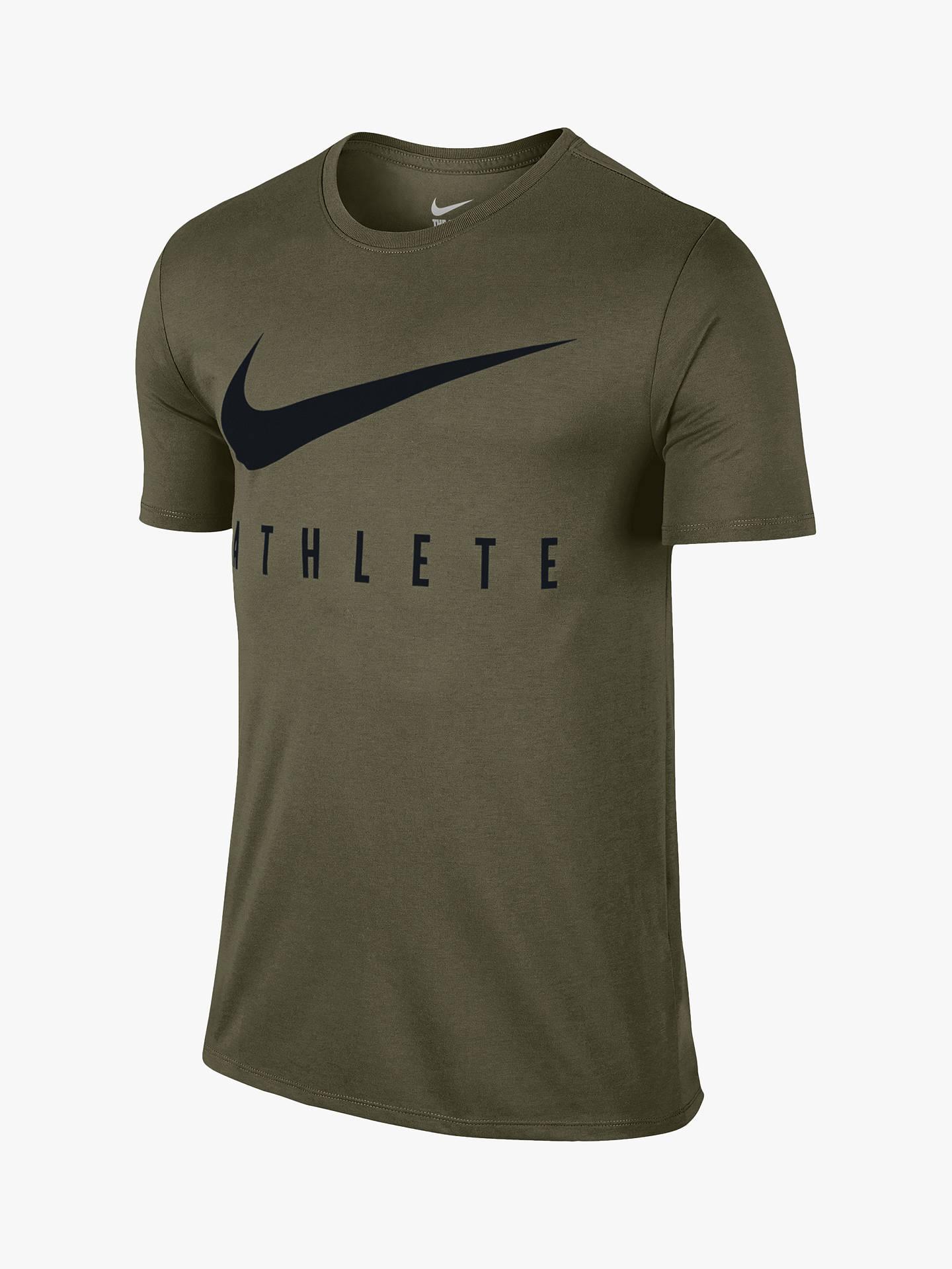 663d5d4bc Buy Nike Dry Athlete Training T-Shirt, Olive Canvas/Black, S Online ...