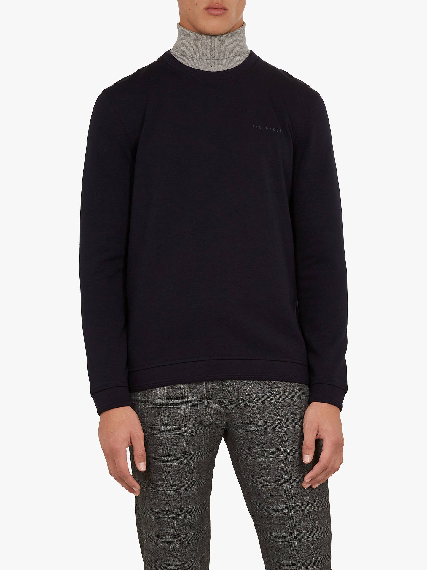 BuyTed Baker Wall Branded Sweatshirt, Navy Blue, S Online at johnlewis.com