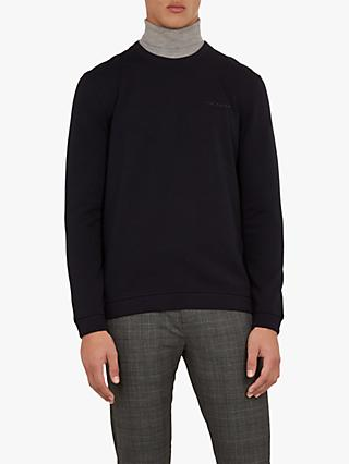 Ted Baker Wall Branded Sweatshirt, Navy Blue