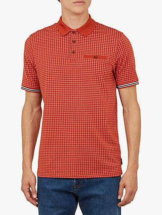 Ted Baker Pezze Short Sleeve Printed Polo Shirt