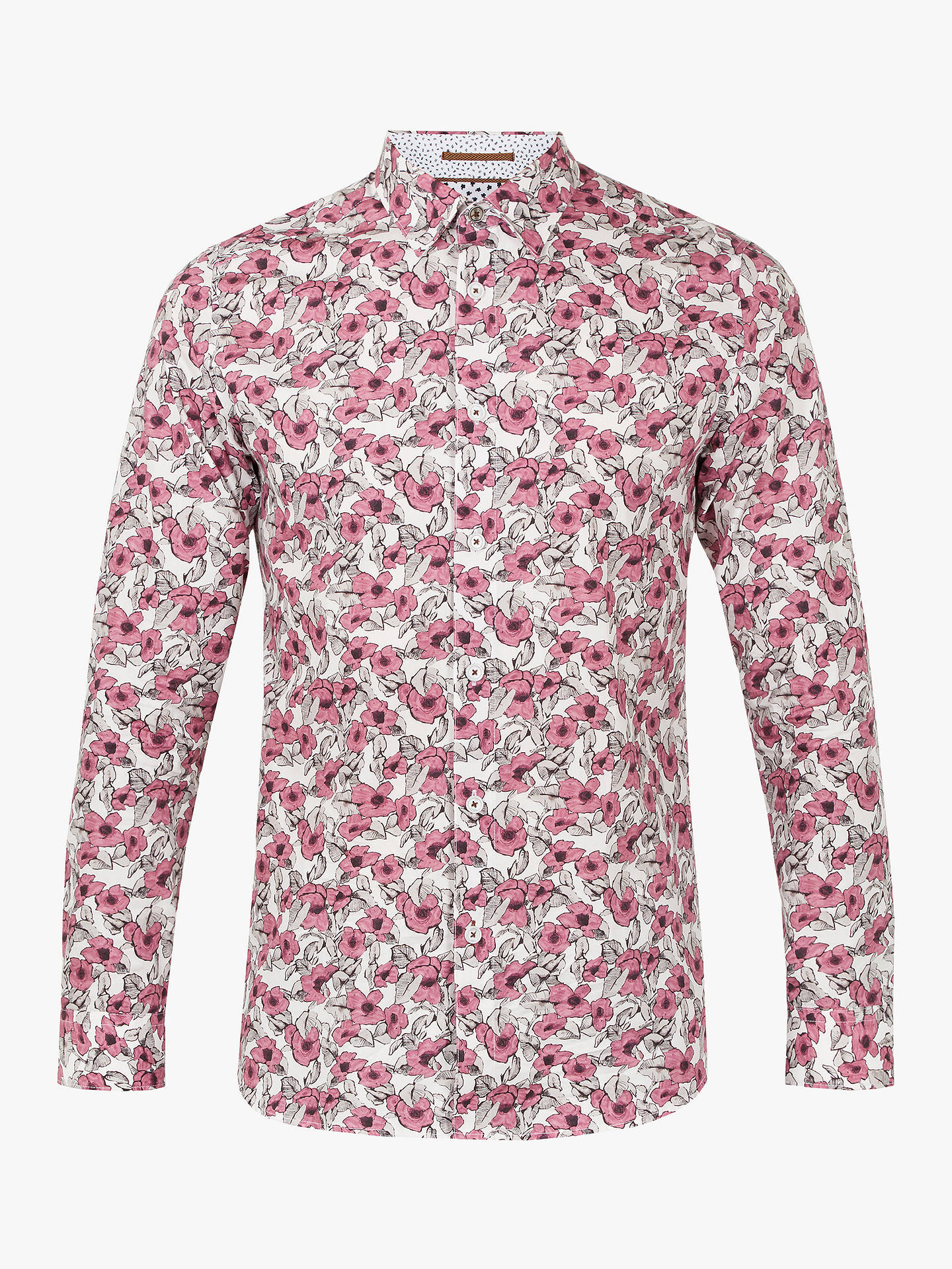 cc095715c2bf Buy Ted Baker Croydon Long Sleeve Floral Shirt