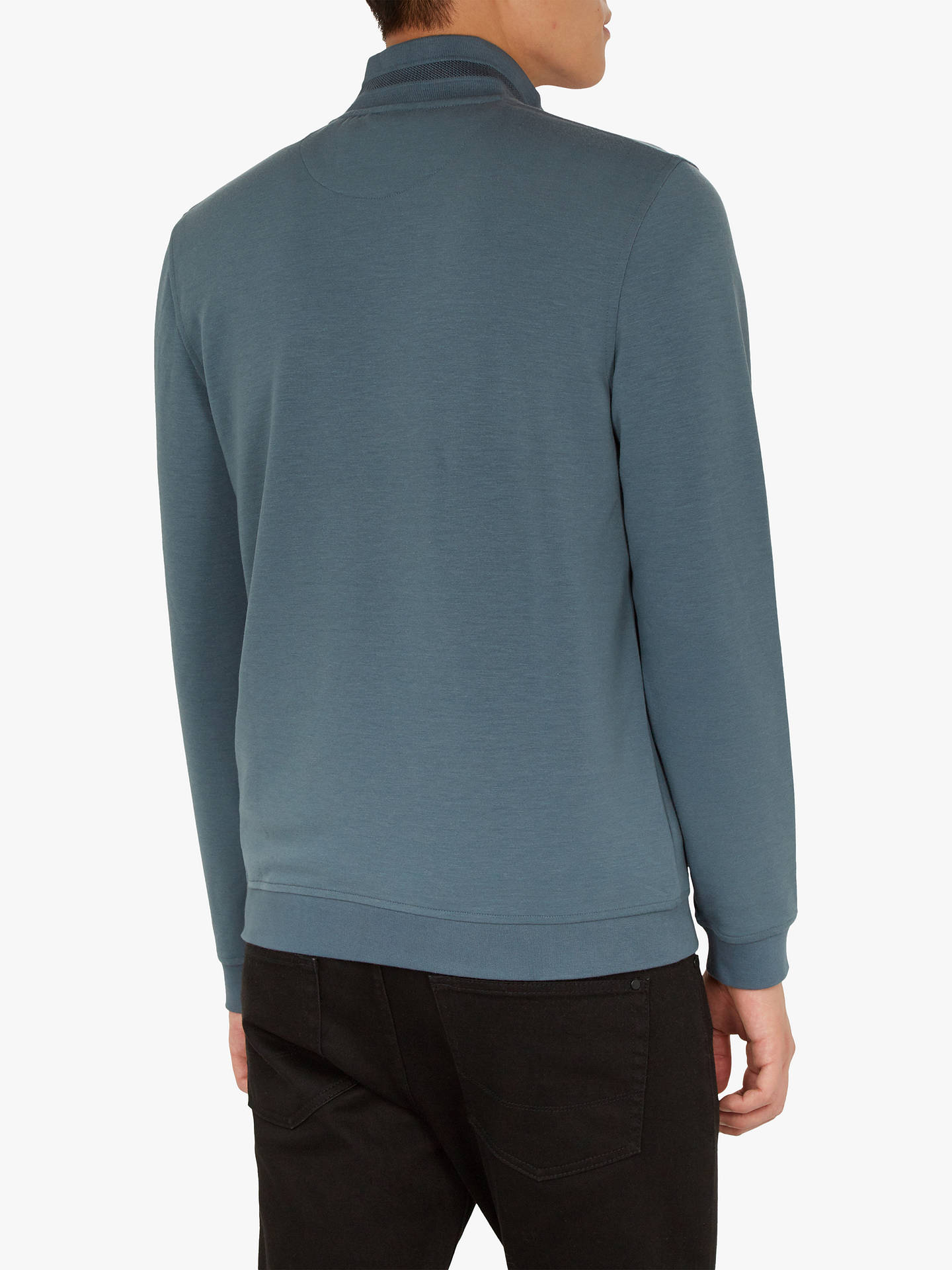 Buy Ted Baker Leevit Half Zip Jumper, Blue, XS Online at johnlewis.com