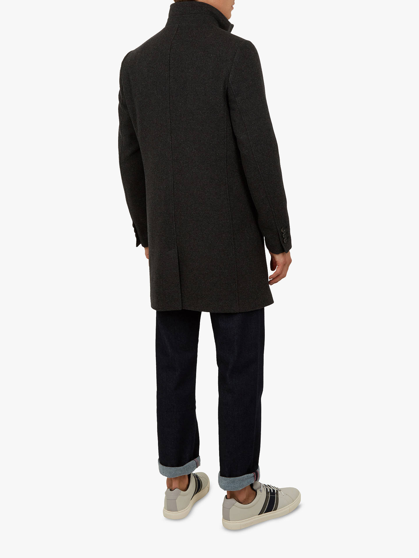 BuyTed Baker Cheago Funnel Neck Coat, Grey, XXL Online at johnlewis.com