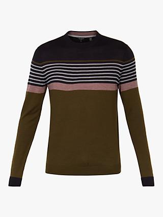 Ted Baker Giantbu Stripe Crew Neck Jumper