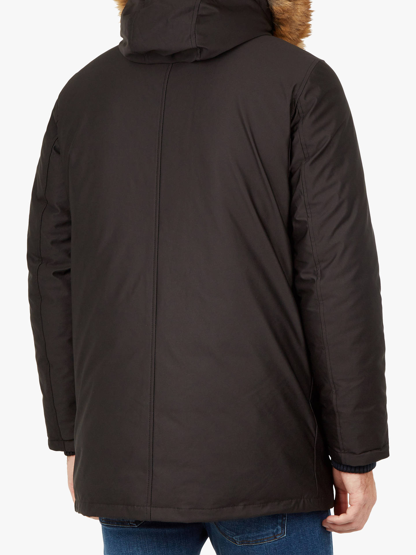 BuyTed Baker Gouda Faux Fur Hooded Parka, Black, XXL Online at johnlewis.com