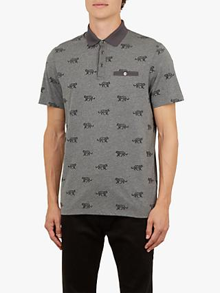 Ted Baker Tigors Short Sleeve Tiger Polo Shirt