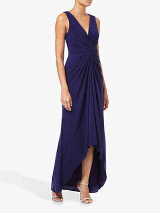 Adrianna Papell Jersey Draped Maxi Dress, Blue