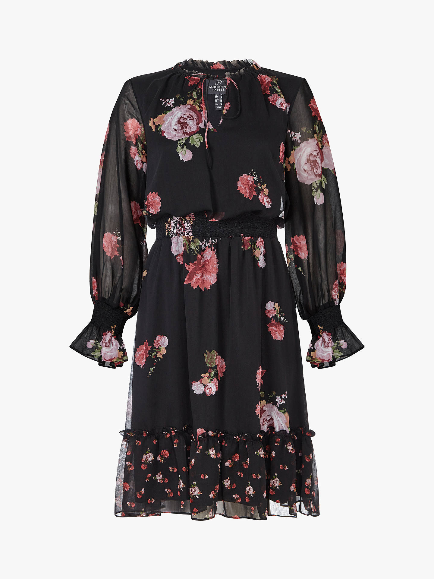 Buy Adrianna Papell Loving Boho Floral Print Dress, Multi, 12 Online at johnlewis.com