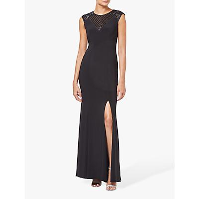 Adrianna Papell Long Jersey Dress, Black