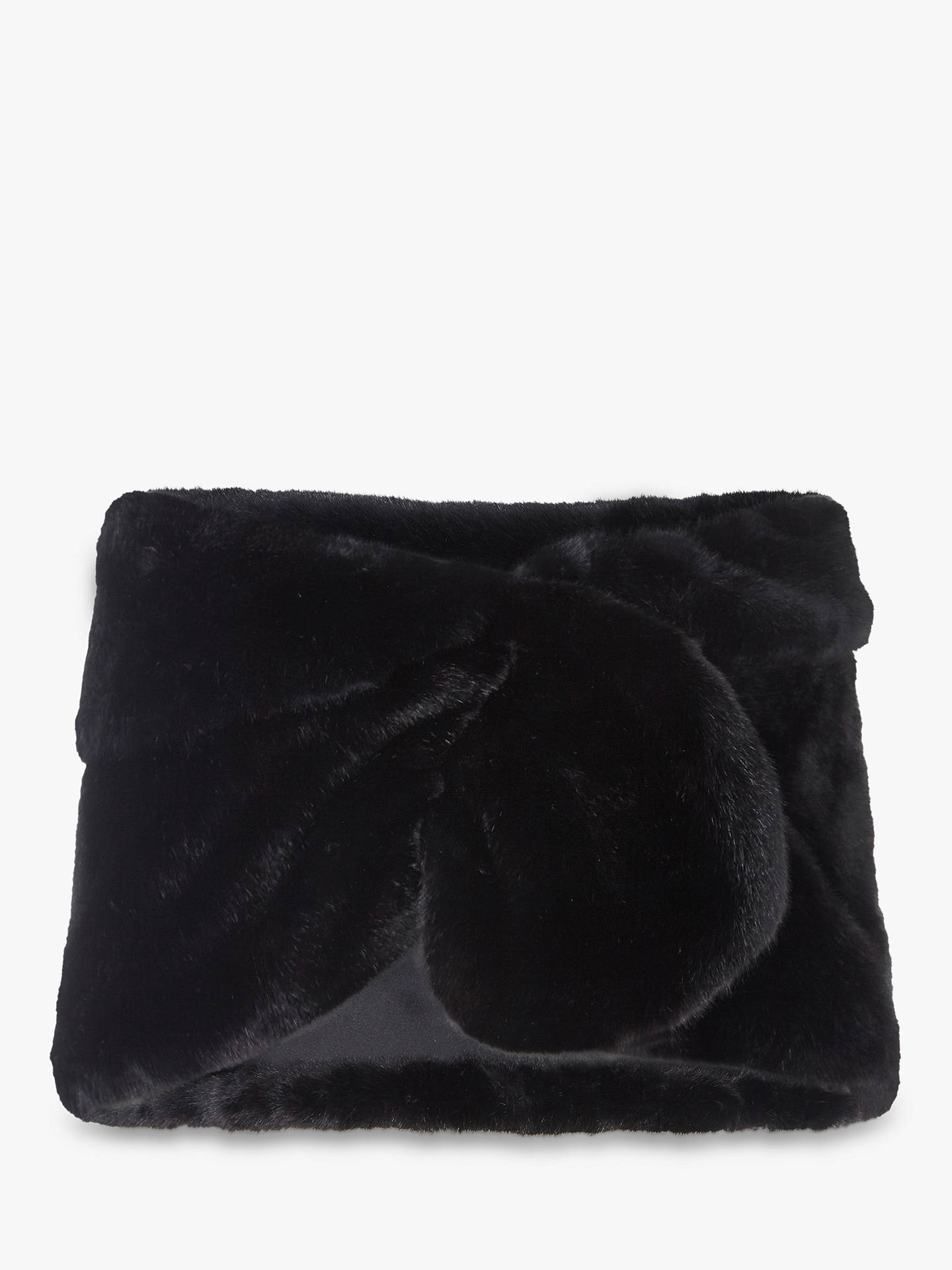 Buy Adrianna Papell Faux Fur Shrug, Black, L Online at johnlewis.com