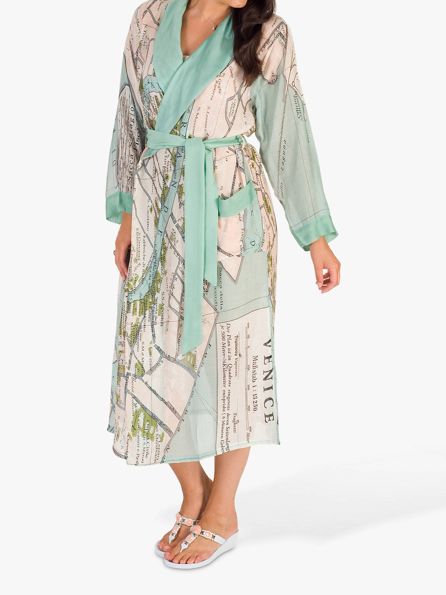 Buy Chesca Venice Map Kimono, Green Multi, One Size Online at johnlewis.com