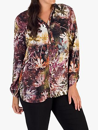 Chesca Abstract Grape Blouse, Purple