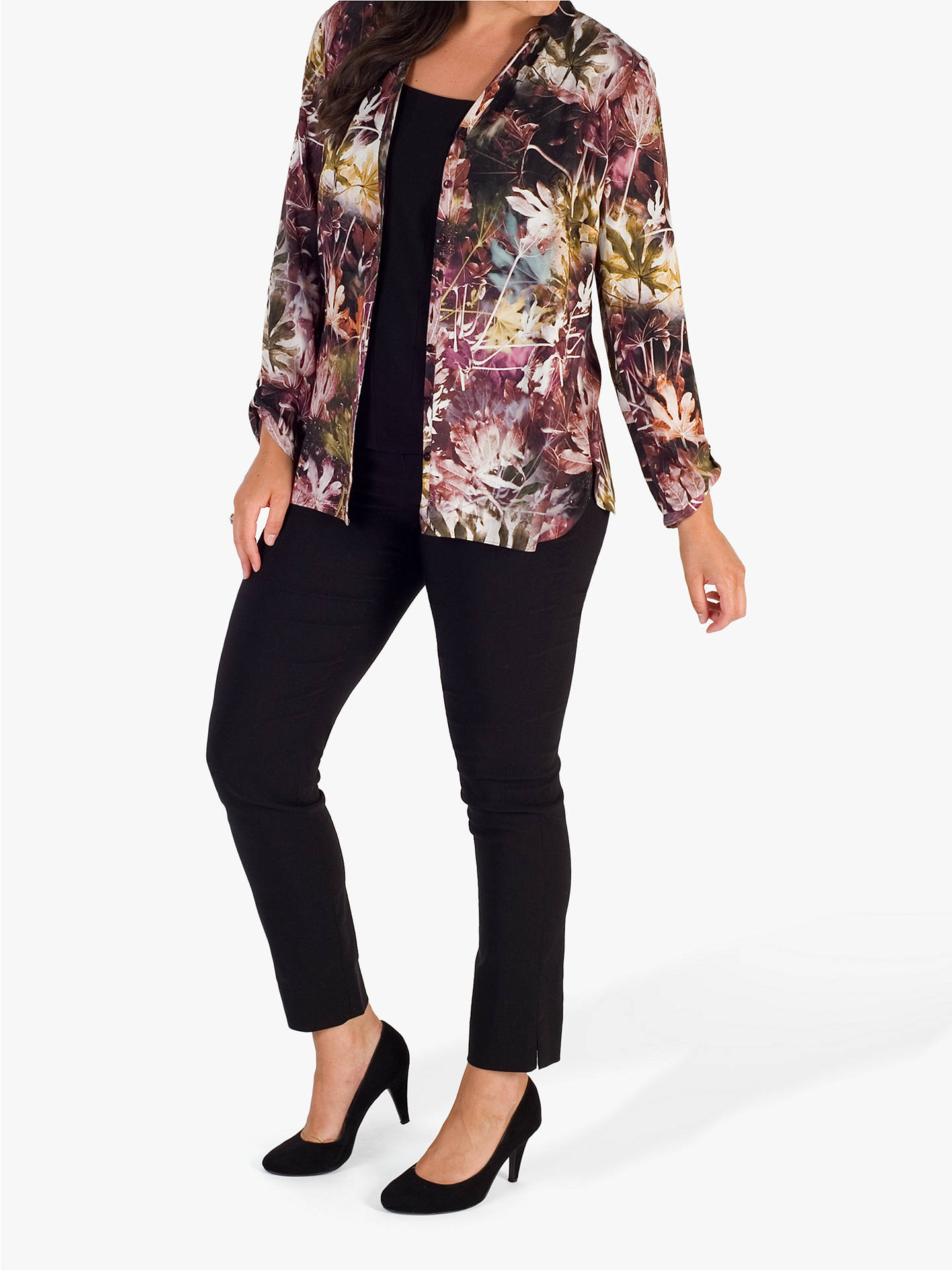 BuyChesca Abstract Grape Blouse, Purple, 14 Online at johnlewis.com