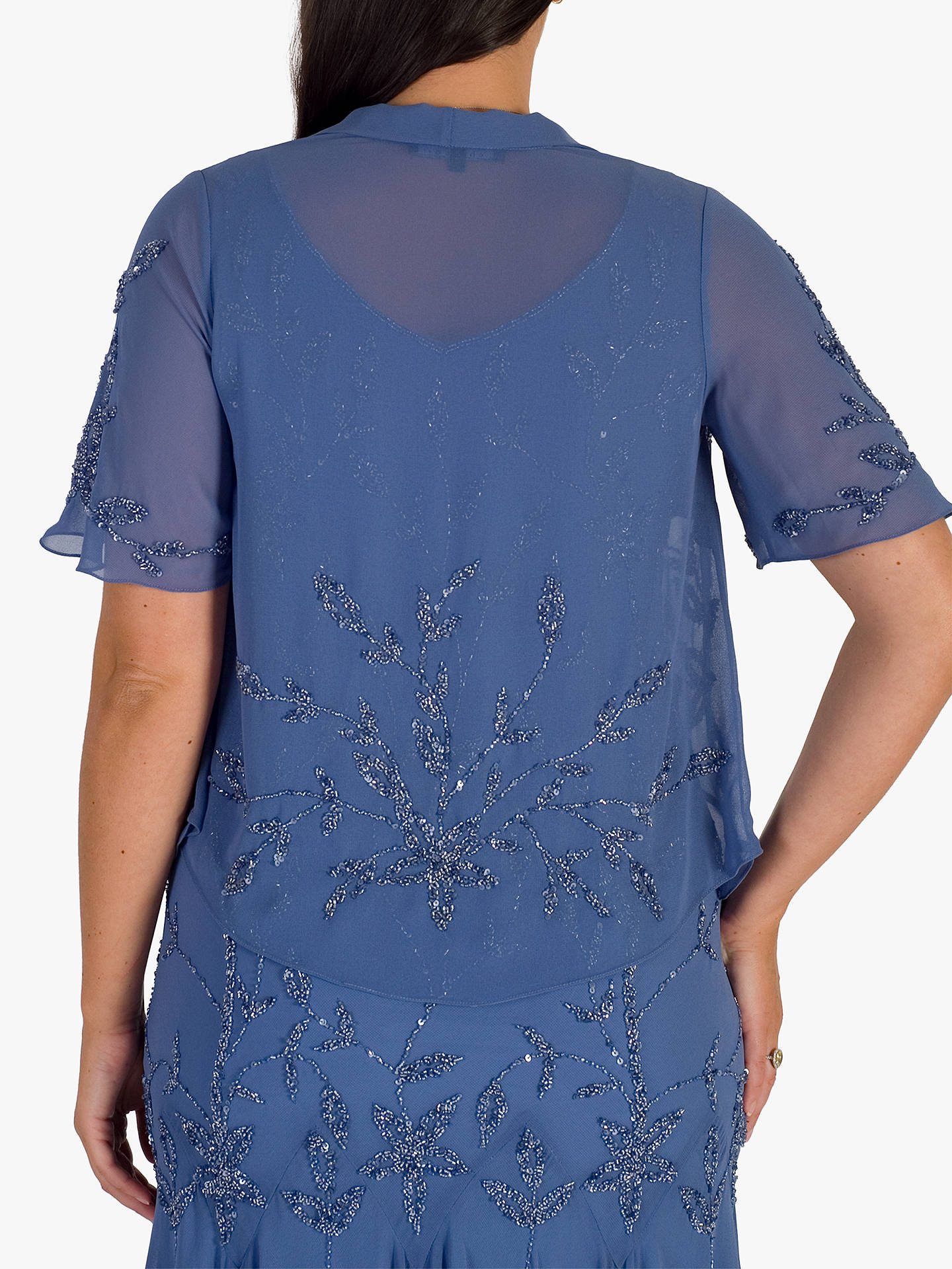 BuyChesca Iris Beaded Jacket, Blue, 18 Online at johnlewis.com