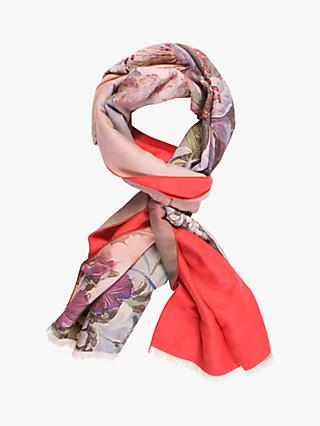Chesca Flower Print Scarf, Multi