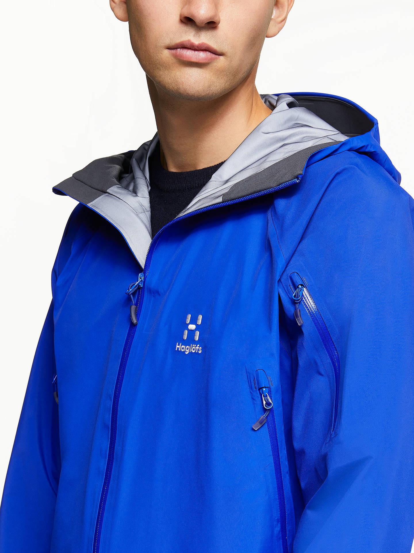 d1cdfaabc Haglöfs Roc Spirit Men's Waterproof Jacket, Blue at John Lewis ...